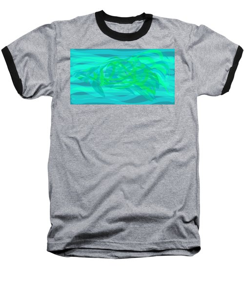 Baseball T-Shirt featuring the digital art Camouflage Fish by Stephanie Grant