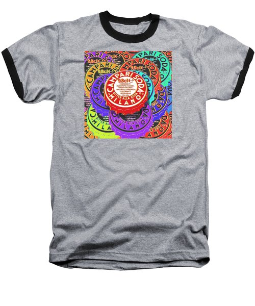 Campari Soda Caps Baseball T-Shirt by Tony Rubino