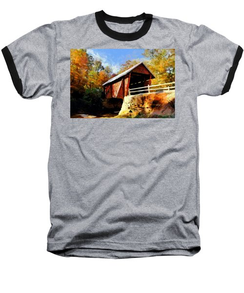 Campbell's Covered Bridge Baseball T-Shirt by Lynne Jenkins