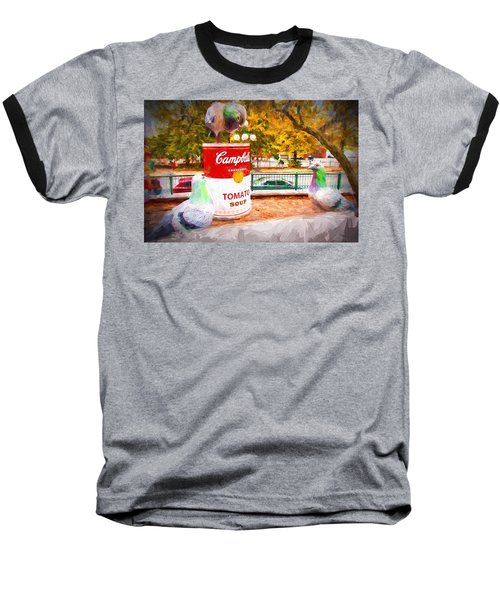 Campbell's Soup Baseball T-Shirt by Bill Howard
