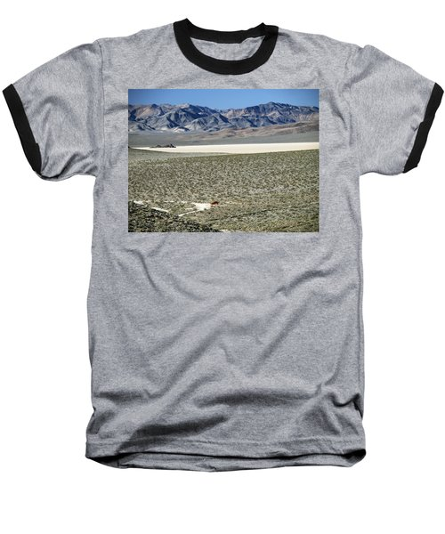 Camped At The End Of The Road Baseball T-Shirt by Joe Schofield