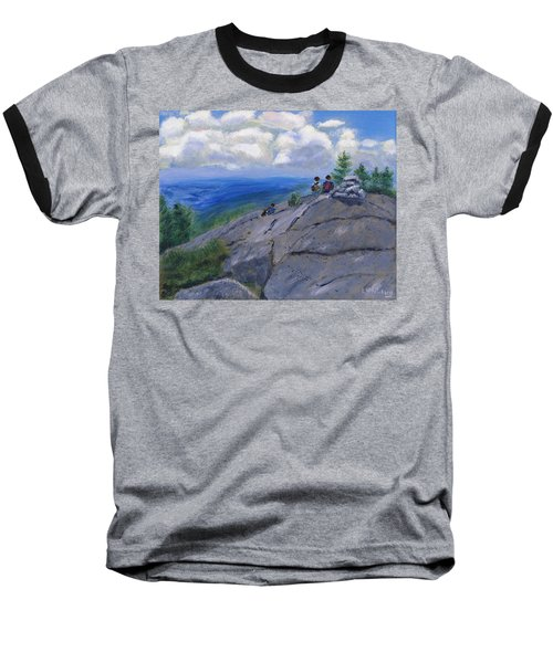 Campers On Mount Percival Baseball T-Shirt