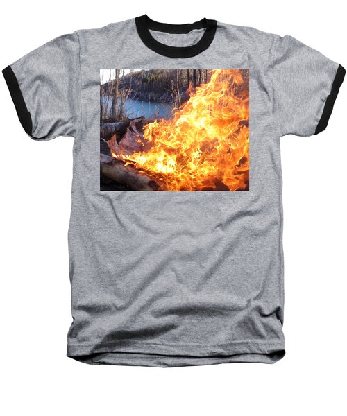 Baseball T-Shirt featuring the photograph Campfire by James Peterson