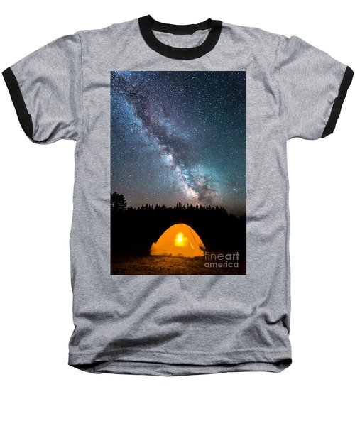 Camping Under The Stars Baseball T-Shirt