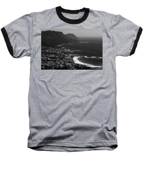 Camps Bay Cape Town Baseball T-Shirt by Aidan Moran