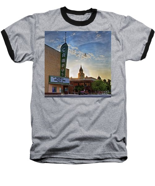 Campus At Sunrise Baseball T-Shirt by Gary Holmes