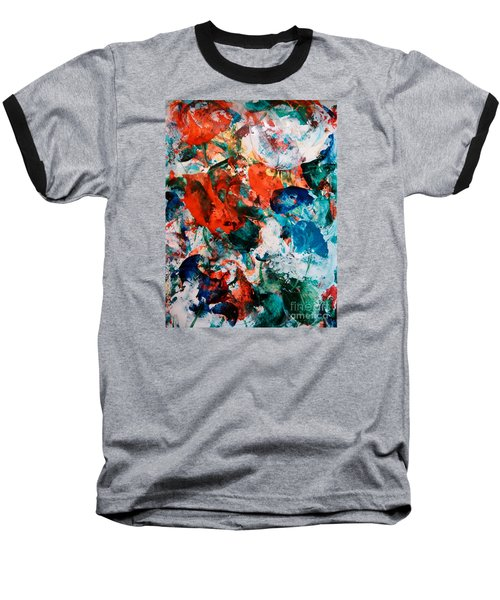 Baseball T-Shirt featuring the painting Can I Have This Dance by Lori  Lovetere