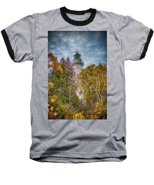 Cana Island Lighthouse II By Paul Freidlund Baseball T-Shirt by Paul Freidlund
