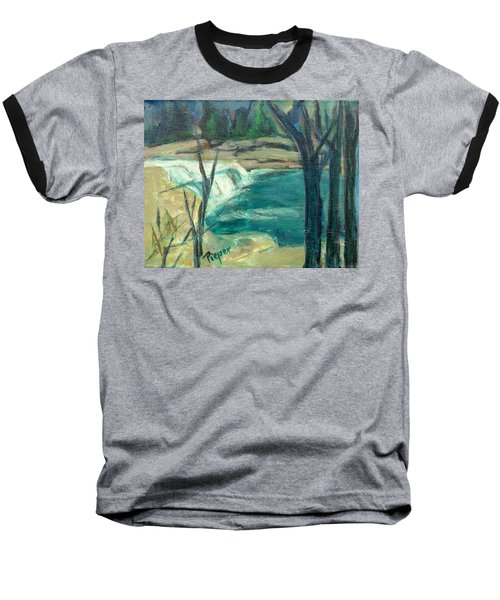Baseball T-Shirt featuring the painting Canajoharie Creek Near Village by Betty Pieper