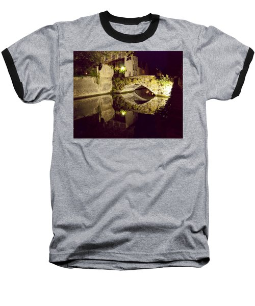 Canal Bridge Reflection Baseball T-Shirt