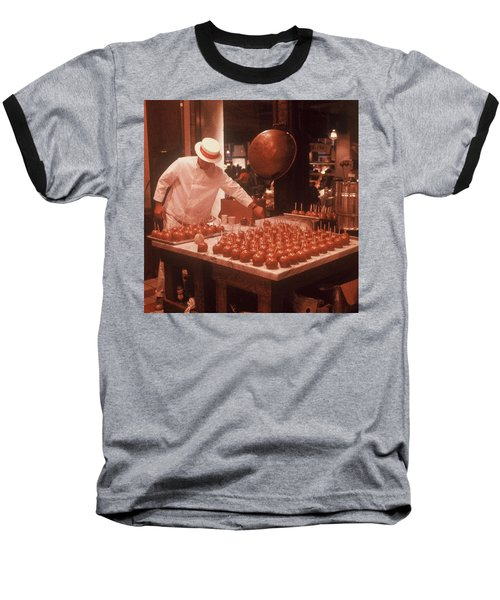 Baseball T-Shirt featuring the photograph Candy Apple Man by Rodney Lee Williams