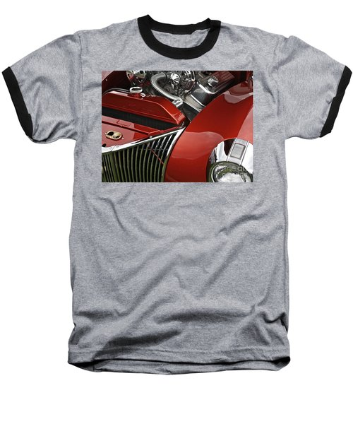 Candy Apple Red And Chrome Baseball T-Shirt