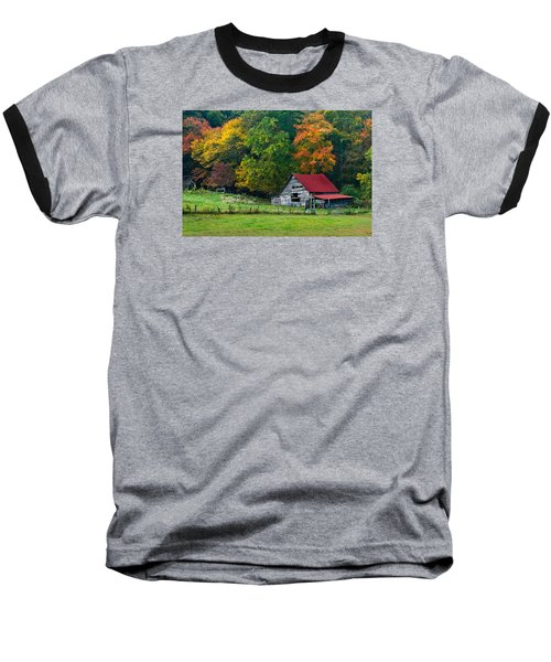 Candy Mountain Baseball T-Shirt by Debra and Dave Vanderlaan