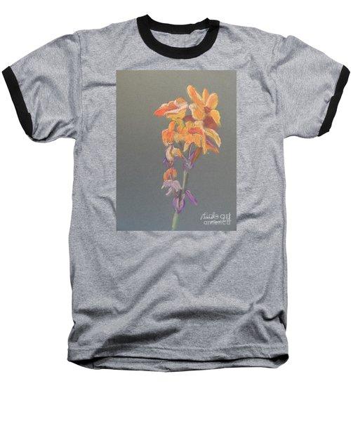 Canna Baseball T-Shirt by Pamela  Meredith
