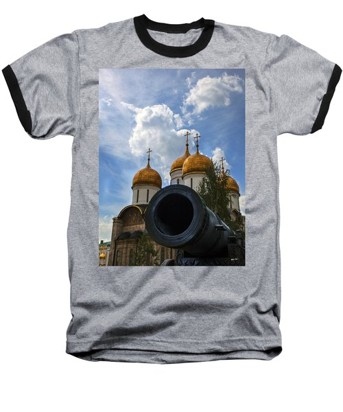 Cannon And Cathedral  - Russia Baseball T-Shirt by Madeline Ellis