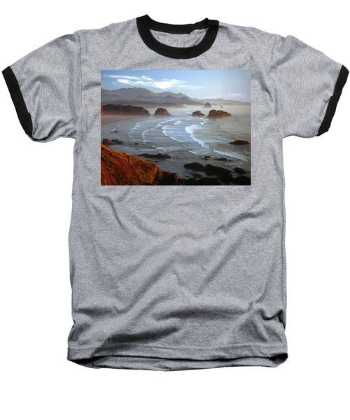 Cannon Beach At Sunset Baseball T-Shirt