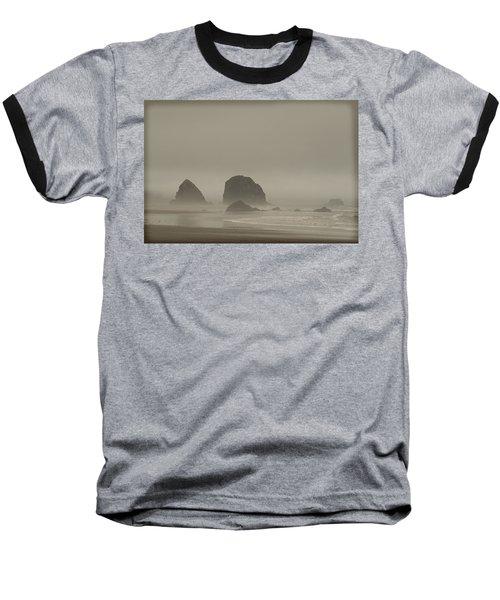 Baseball T-Shirt featuring the photograph Cannon Beach In A Fog Oregon by Yulia Kazansky