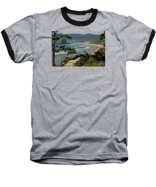 Baseball T-Shirt featuring the photograph Cannon Beach Seascape by Nick  Boren