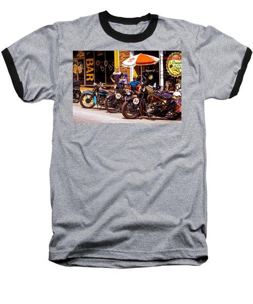 Cannonball Motorcycle Colors Baseball T-Shirt