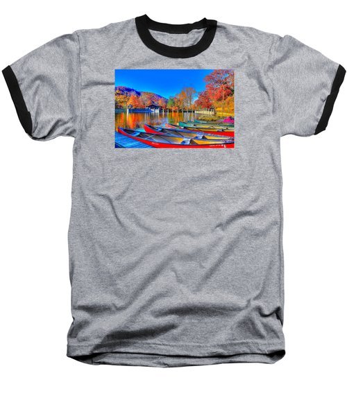 Canoe In Waiting Baseball T-Shirt