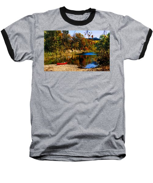 Canoe On The Gasconade River Baseball T-Shirt