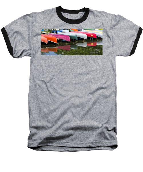 canoes - Lake Wingra - Madison  Baseball T-Shirt by Steven Ralser