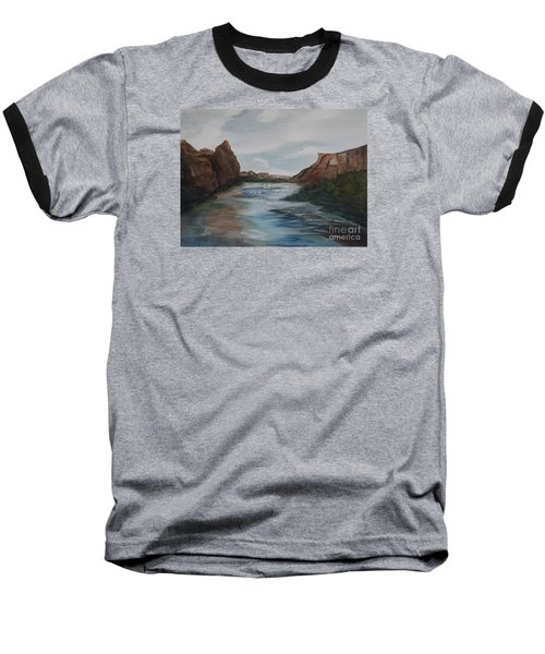 Baseball T-Shirt featuring the painting Canyon De Chelly by Ellen Levinson