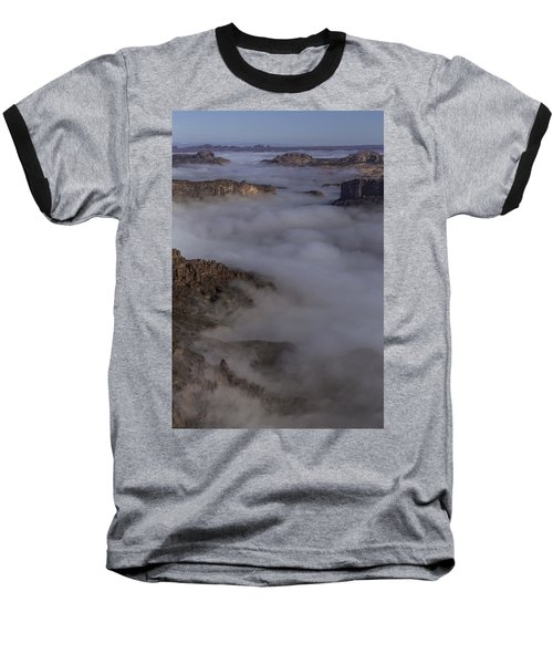 Canyon Rims Float In Fog Baseball T-Shirt