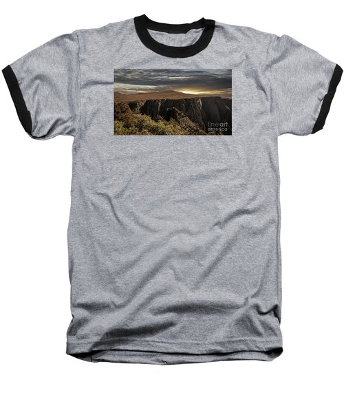 Canyon Twilight Baseball T-Shirt by Janice Rae Pariza