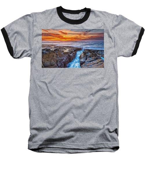 Cape Arago Crevasse Hdr Baseball T-Shirt
