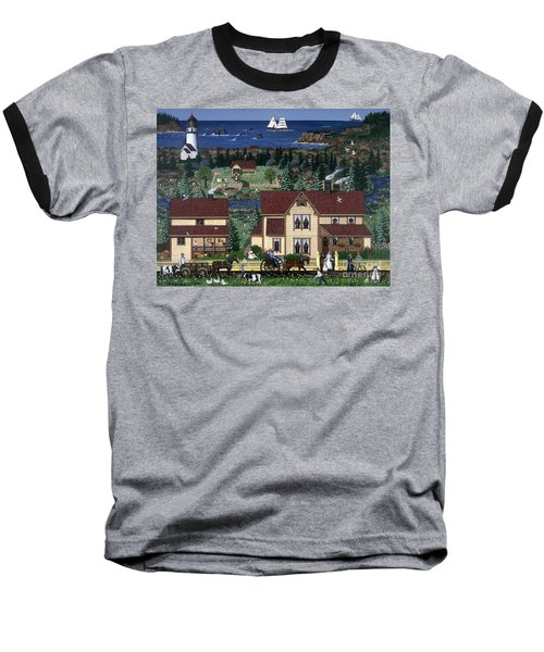 Baseball T-Shirt featuring the painting Cape Blanco by Jennifer Lake