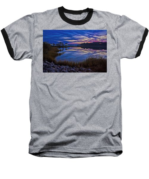 Cape Charles Sunrise Baseball T-Shirt by Suzanne Stout