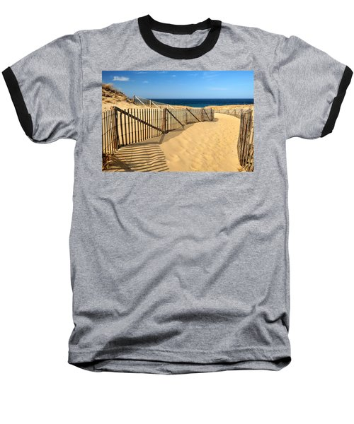 Cape Cod Beach Baseball T-Shirt