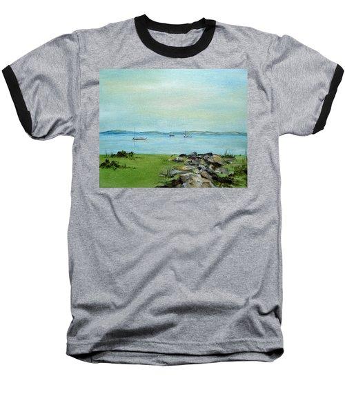 Cape Cod  Boats Baseball T-Shirt by Judith Rhue