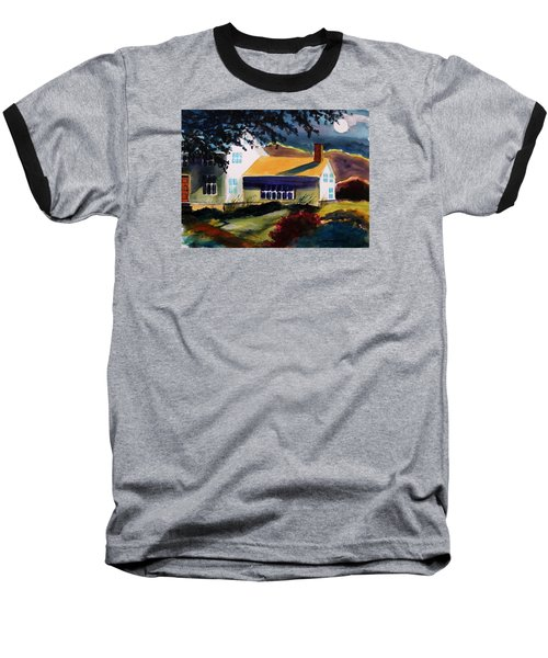 Cape Cod Moon Baseball T-Shirt by John Williams