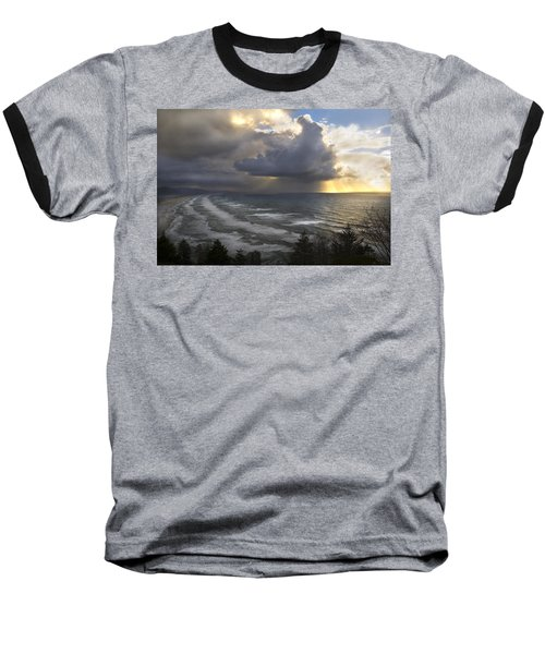 Sunset At Cape Lookout Oregon Coast Baseball T-Shirt