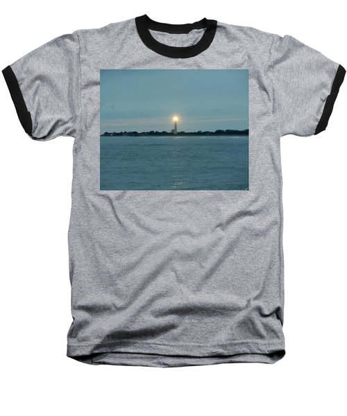 Baseball T-Shirt featuring the photograph Cape May Beacon by Ed Sweeney