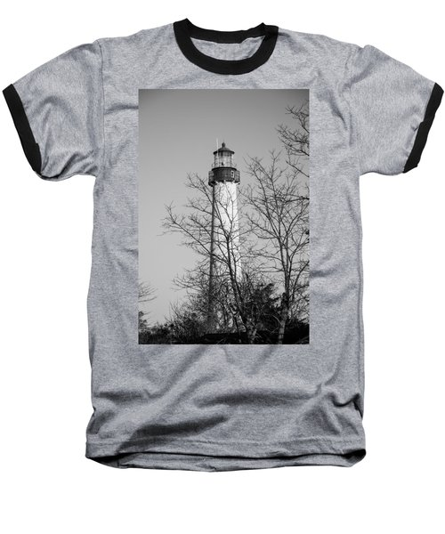 Cape May Light B/w Baseball T-Shirt