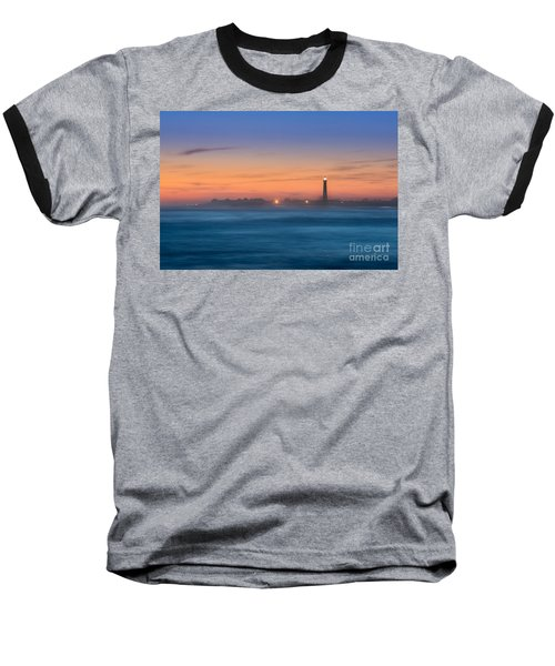 Cape May Lighthouse Sunset Baseball T-Shirt