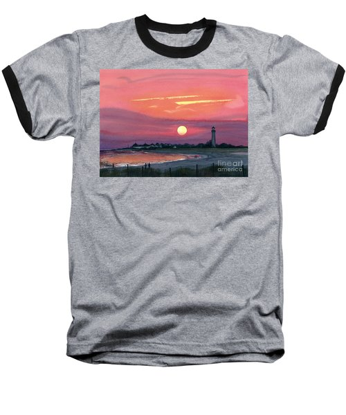 Cape May Sunset Baseball T-Shirt by Barbara Jewell