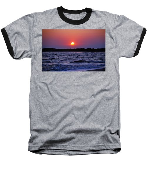 Cape May Sunset Baseball T-Shirt by Richard Bryce and Family