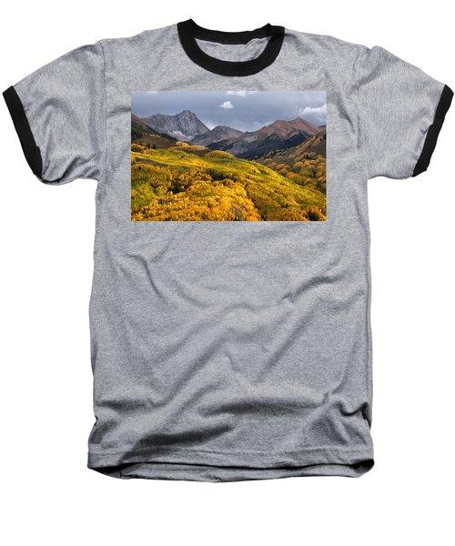Capitol Peak In Snowmass Colorado Baseball T-Shirt