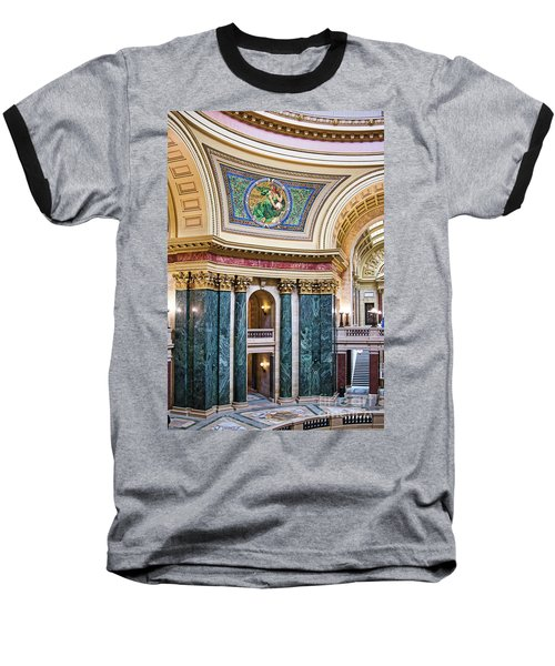 Capitol - Madison - Wisconsin Baseball T-Shirt by Steven Ralser