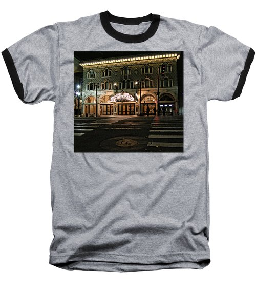 Baseball T-Shirt featuring the photograph Capitol Theatre by Ely Arsha