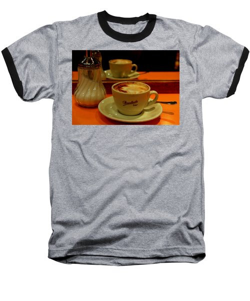 Baseball T-Shirt featuring the photograph Cappuccino by Caroline Stella
