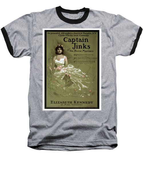 Captain Jinks Baseball T-Shirt by Terry Reynoldson