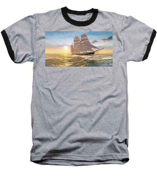 Captain Larry Paine Clippership Baseball T-Shirt