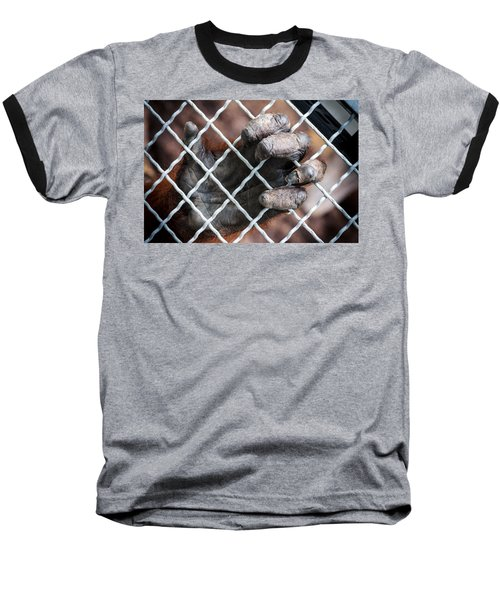 Baseball T-Shirt featuring the photograph Captive Heart by Sennie Pierson