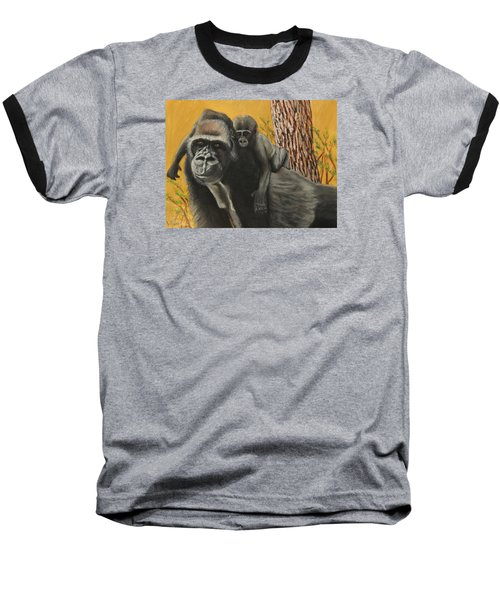 Baseball T-Shirt featuring the painting Captured Bernigie by Jeanne Fischer