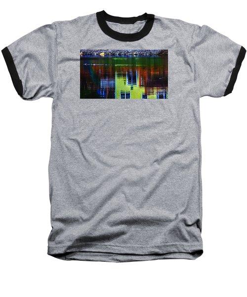 New England Landscape Illusion Baseball T-Shirt